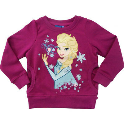 Kinder Pullover Frozen Disney Kinder Sweater Eiskönigin  rot Gr. 98-114 NEU OVP