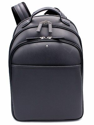 Montblanc Sartorial Print Dark Gray Leather Small Backpack 116323