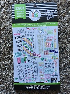 Create 365® Happy Memory Keeping BIG Sticker Sheets, Dates & Holidays 313048 NEW