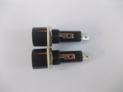 2 x Pannel Mount Fuse Holder for  32mm Glass