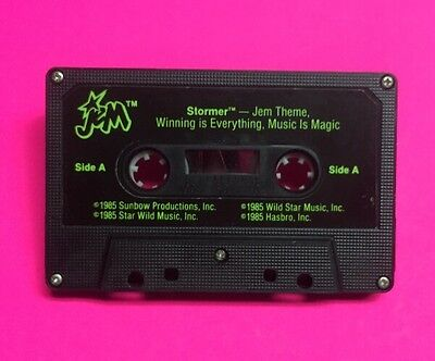 Jem and the Holograms STORMER cassette tape accessory vintage Hasbro