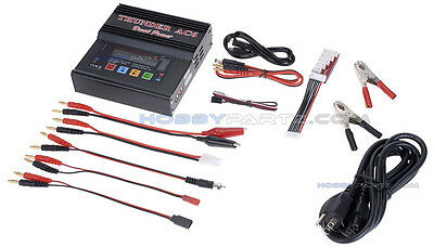 Thunder AC6 Smart LiPo Balance Charger/Discharger w/Extra Adapters-USED