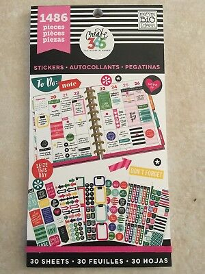 Create 365™ The Happy Planner™ Everyday Plans Value Pack Stickers 1486 NEW