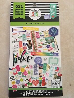 Create 365™ The Happy Planner™ Faith Value Pack Stickers 621 NEW