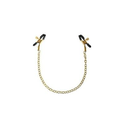 Nipple Chain Clamps - Gold catena seno capezzoli master BDSM fetish sexy shop
