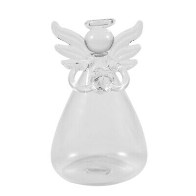 Praying Angel Vases Crystal Transparent Glass Flower Vase Hydroponic Contai F4M6