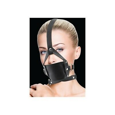 Leather Mouth Gag - Black Ball Gag master morso costrittivo sadomaso BDSM fetish