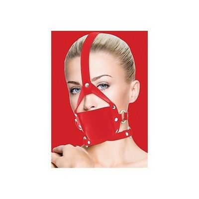Leather Mouth Gag - Red Ball Gag master morso costrittivo sadomaso BDSM fetish s