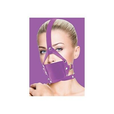 Leather Mouth Gag - Purple Ball Gag master morso costrittivo sadomaso BDSM fetis