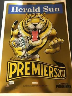 MARK KNIGHT LIMITED EDITION 822/1000 RICHMOND 2017 PREMIERS gold FOIL POSTER NEW