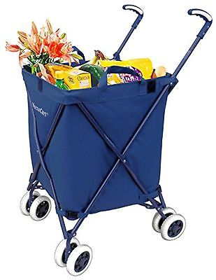 Folding Shopping Cart - VersaCart Transit Utility Cart - Transport Up to 120 ...