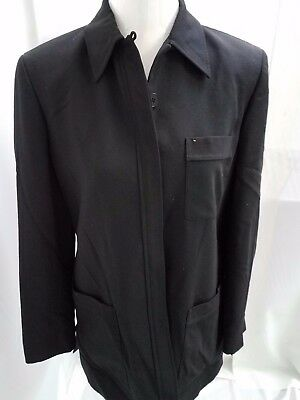 Liz Claiborne Classics Women S Wool Black Tailored Dress Suit Jacket