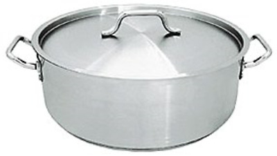 15 Qt Stainless Steel Commercial Brazier Pot W/ Lid - Nsf