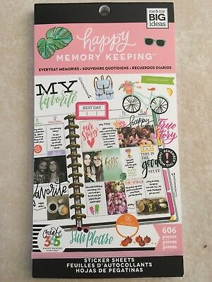 Create 365 Happy Memory Keeping BIG Sticker Sheets, Everyday Memories 606 NEW