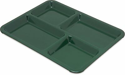 """Carlisle KL44408 Melamine 4-Compartment Divided Tray, 11"""" X 9"""", Forest Green of"""