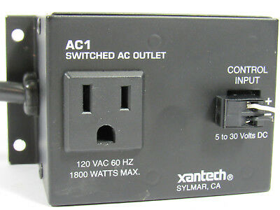 XANTECH AC1 Controlled Switched AC Outlet 1800 Watt Control Input Remote 5-30v
