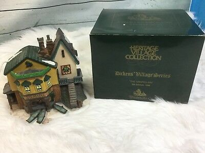 """Dept 56 Dickens Village Heritage Village 1996 """"the Grapes Inn"""" 5Th Edition"""