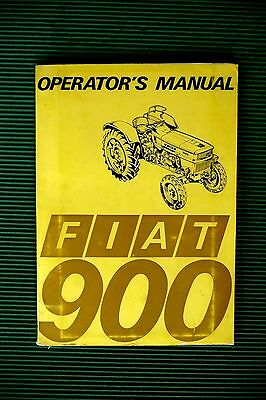 """FIAT """" 900 """" TRACTOR, 1969  OPERATOR'S / OWNER'S  MANUAL very RARE  vgc"""