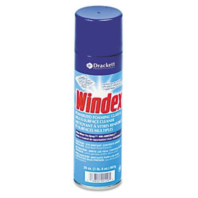 Windex 90129CT Powerized Formula Glass & Surface Cleaner, 20 oz. Aerosol Can,