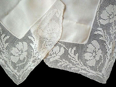 Antique MARY CARD Hand Crochet ~ 'Anemone' ~ Tablecloth 1928 'Bridge Table' No C