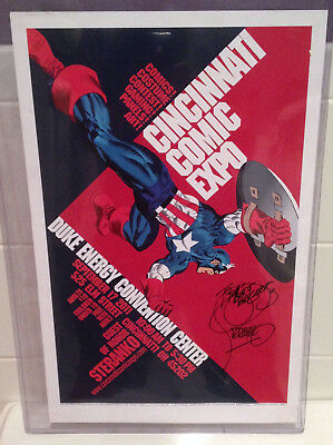 STERANKO Signed / Autographed Art Print  Captain America  11X17