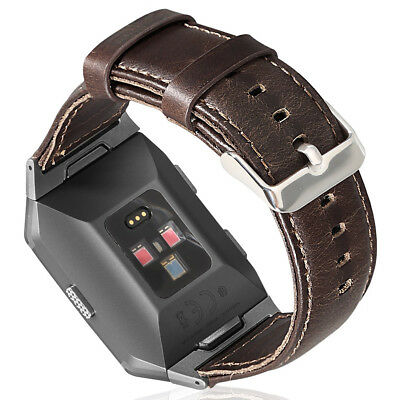Fashion Genuine Leather Watch Band Strap 7.0-8.4 Inches For Fitbit Ionic