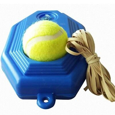Tennis Ball Back Base Trainer Set+Training Ball Single Training Practice New.