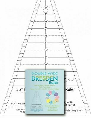 Double Wide Dresden Ruler from Me and My Sister Designs