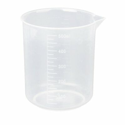 500ml Kitchen Lab Test Plastic Graduated Measuring Beaker Cup Container Q4N2