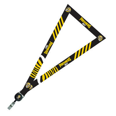 333248 Richmond Tigers 2017 Afl Premiers Team Logo Retractable Lanyard