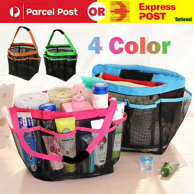 Hanging Toiletry Storage Pouch Organizer Caddy Cosmetics Shower Bag Mesh Tote AU