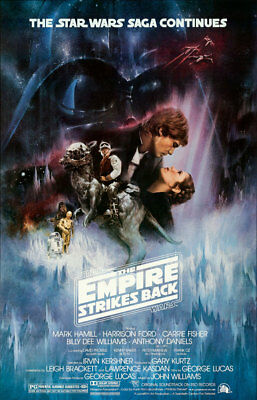 Star Wars The Empire Strikes Back Movie Poster Giclee' Canvas Art Print