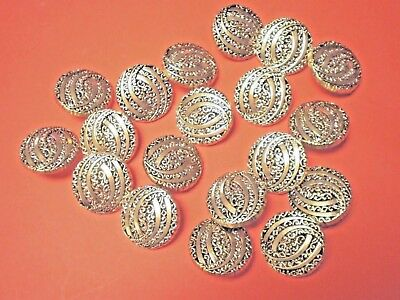 25 LARGE  GOLD BUTTONS SIZE 25mm