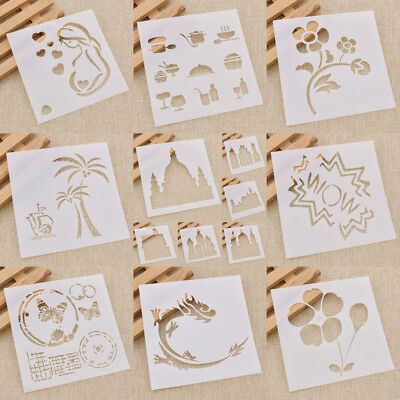 DIY Stencils Airbrush Painting Drawing Decor Spray Template Tool Scrapbook Mold