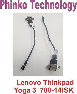 NEW DC Power Jack with Harness Cable Lenovo Thinkpad Yoga 3 700-14ISK DC3100P400