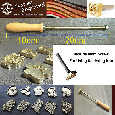 Custom Made Your Design Logo Branding Iron Wood Leather Stamp + Torch heated