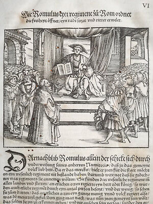 Livius History of Rome Post Incunable Woodcut Schoeffer (6) - 1530
