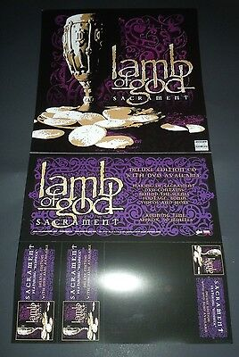 LAMB OF GOD~Sacrament~Promo Poster Flat~Double Sided~12x24~NM~2006