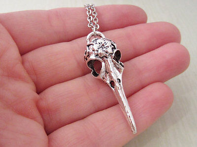 Viking Odin Raven skull Pendant Bird Celtics Necklace  Ancient Tribe Amulet
