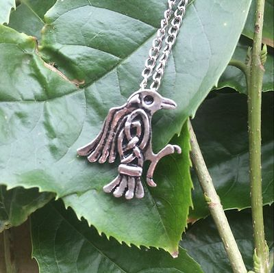Viking Odin Raven Pendant Bird Celtics Necklace For Men Ancient Tribe Amulet