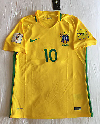 4babe50d610 Neymar Jr Home Brazil Jersey 2016 17 World Cup 18 Patches Mens Yellow