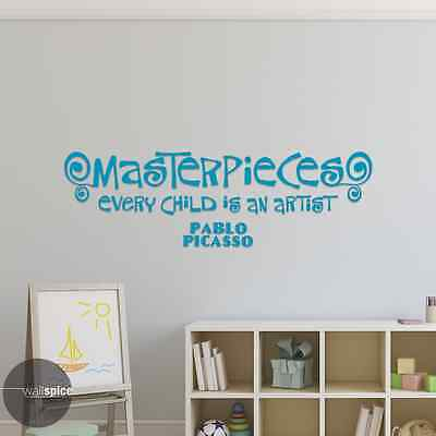 Masterpieces Every Child Is An Artist Pablo Picasso Vinyl Wall Decal Sticker