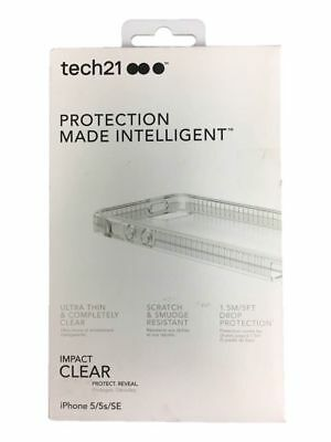 Tech21 Protection Made Intelligent Impact Clear Case For iPhone 5/ 5s/ SE HT45