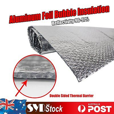Radiant Barrier 6m2 Sliver Double Bubble Shed Loft Foil Insulation Roof Caravan