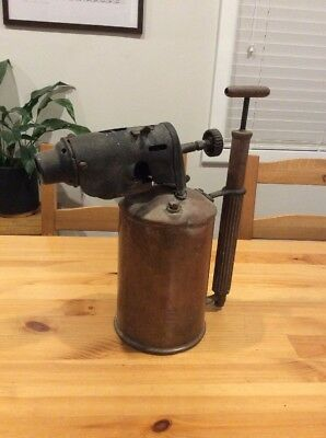 Large Original Sievert Brass Blow Torch; Lamp; Made In Sweden; Old Tool; Antique