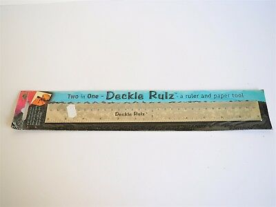 """Fynmark"" Deckle Rulz - Brand New - Two in one - Ruler and Paper Tool. Bargain!"