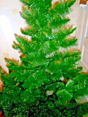 Xmas bottle brush tree original base 1960 true vintage 6' charming