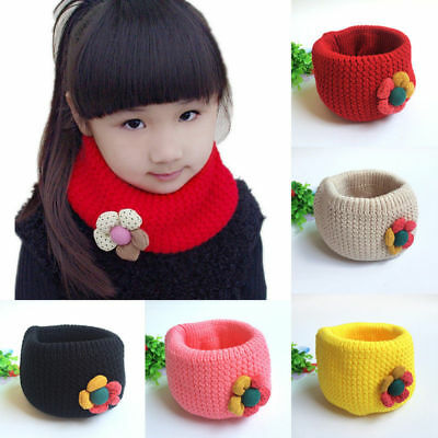 Kids Winter Soft Comfortable O-Ring Knit Woolen Neck Warmer New Baby Scarf EW999