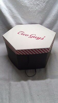 Vintage Two Guys Black Hat Box