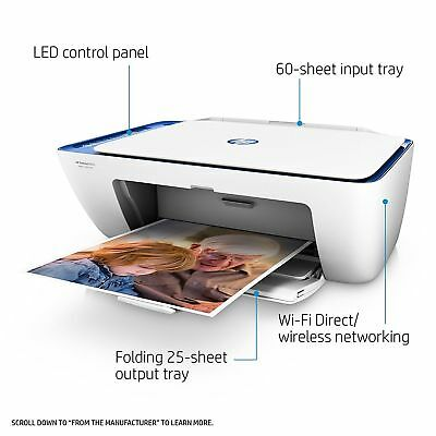 HP DeskJet 2655 All-In-One Compact Wireless Printer AirPrint (V1N01A) with INKS!